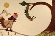 La Chenille et la poule